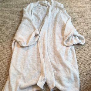 Oversized short sleeve cardigan